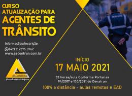 CURSO DE ATUALIZAÇÃO PARA AGENTES DE TRÂNSITO